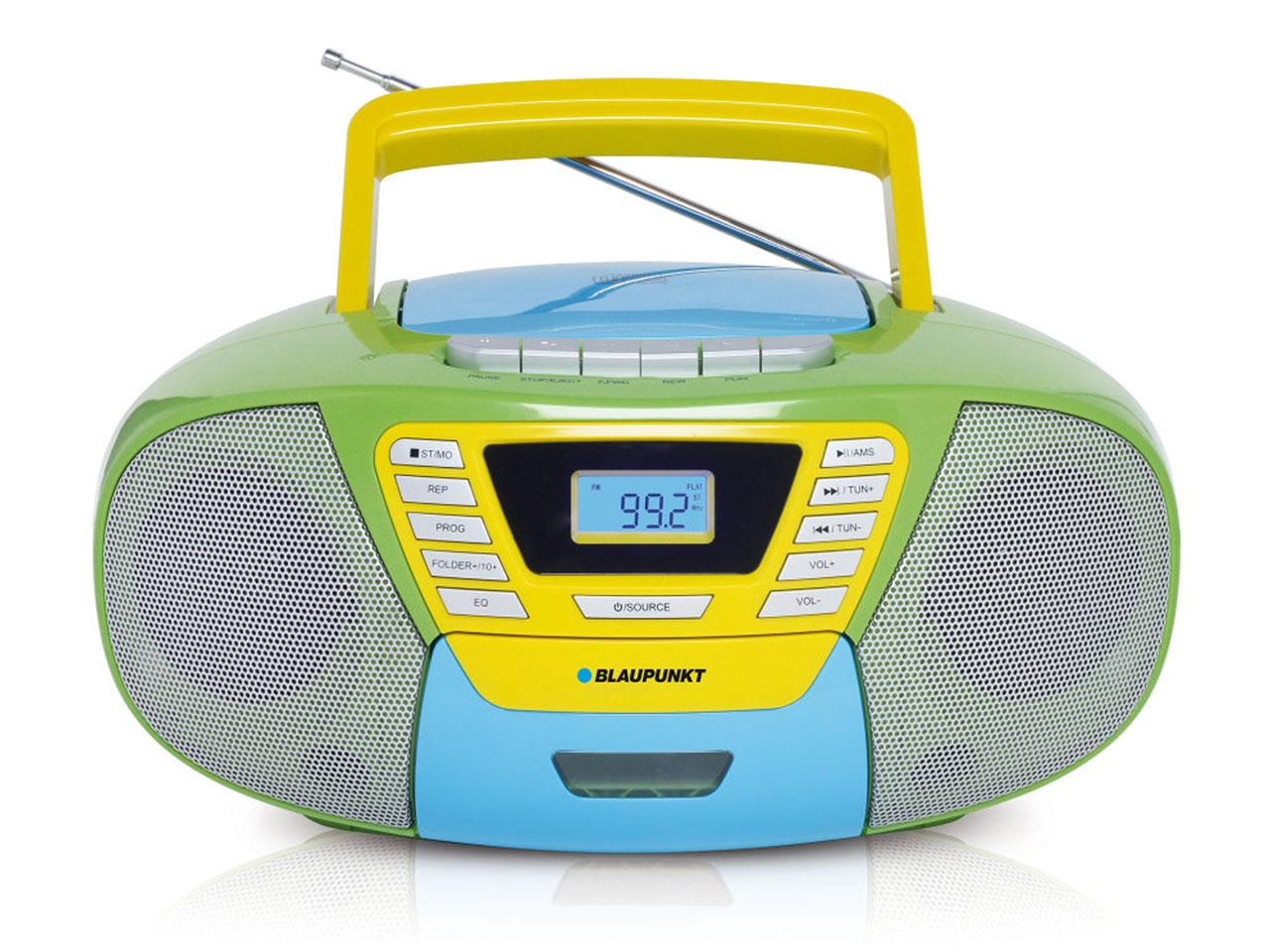 CD přehrávač BLAUPUNKT Boombox s CD a USB, barevný