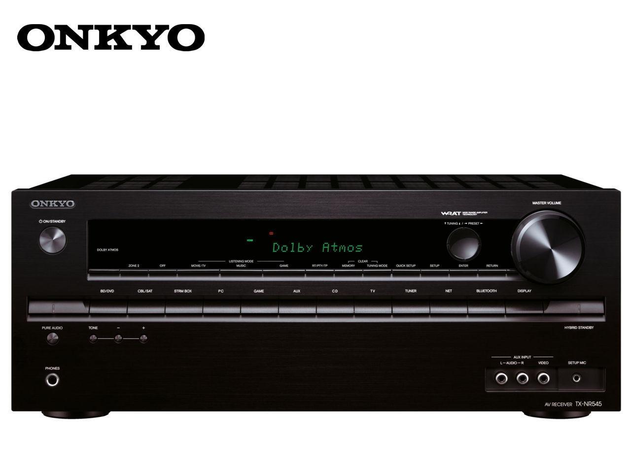 ONKYO TX-NR545 B + 400 Kč na dárky nebo další nákup | CHAT on-line podpora PO-PÁ 8-22.00!!
