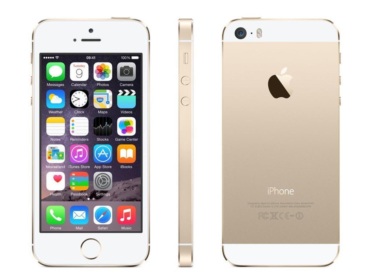 APPLE iPhone 5S, 32 GB, zlatý
