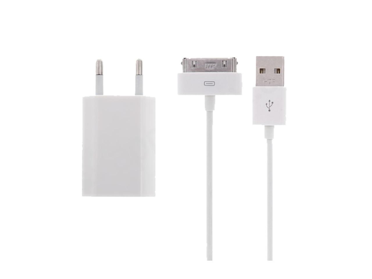 Nabíjecí sada pro Apple iPhone, iPad, iPod adapter + kabel 30pin, 1m, bilý