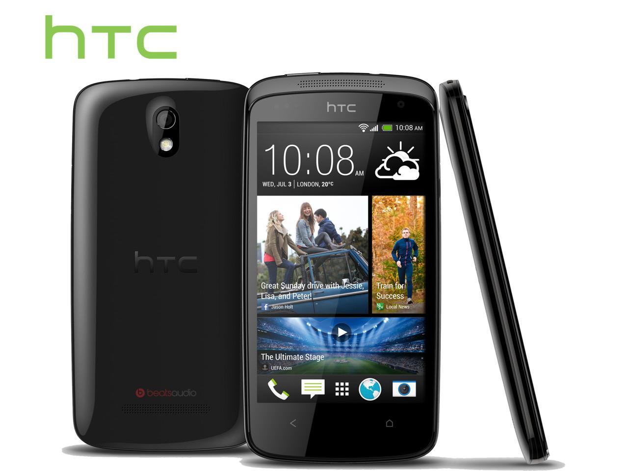 HTC Desire 500, černý + 100 Kč na dárky nebo další nákup   CHAT on-line podpora PO-PÁ 8-22.00!!