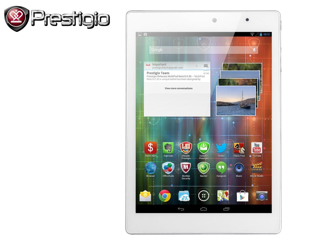PRESTIGIO MultiPad 4 Diamond 7.85 3G, bílý + 100 Kč na dárky nebo další nákup | CHAT on-line podpora PO-PÁ 8-22.00!!