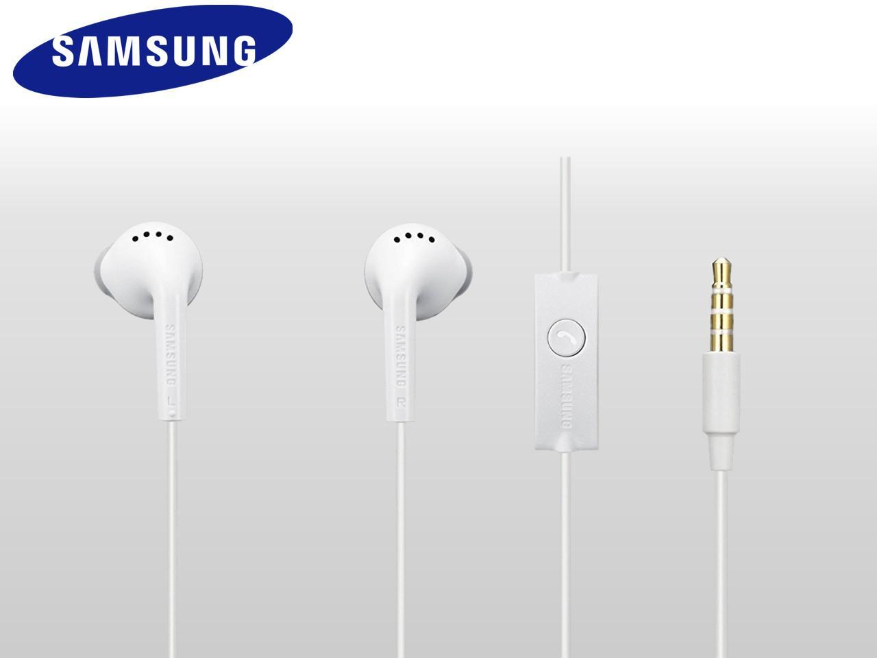 Sluchátka s ovládáním a mikrofonem pro Samsung zařízení, bílá, bulk balení